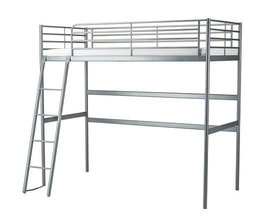 Ikea silver metal loft bed